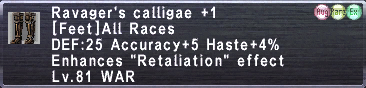 Ravager's Calligae +1