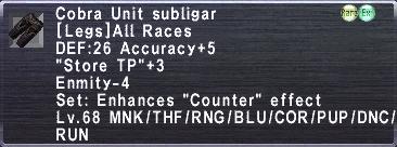 Cobra Unit Subligar
