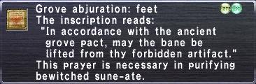 Grove Abjuration: Feet