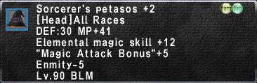 Sorcerer's Petasos +2