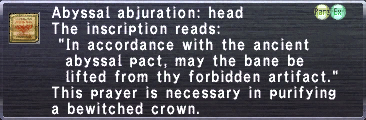 Abyssal Abjuration: Head