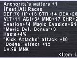 Anchorite's Gaiters +1