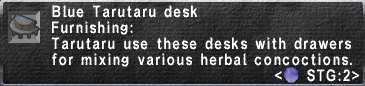 Blue Tarutaru Desk