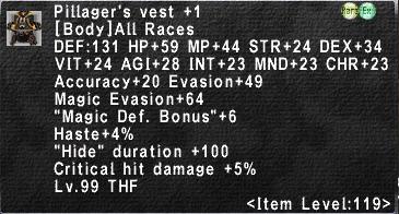 Pillager's Vest +1