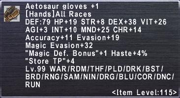Aetosaur Gloves +1