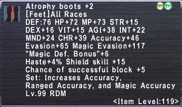 Atrophy Boots +2