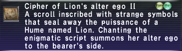 Cipher: Lion II