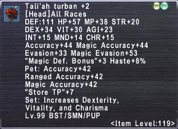 Tali'ah Manteel +2 Set