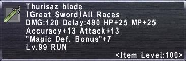 Thurisaz Blade