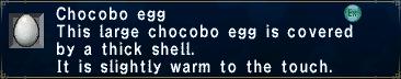 Chocobo Egg (Slightly Warm)