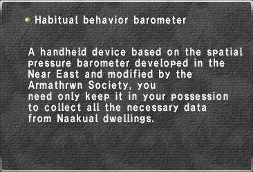 Habitual behavior barometer