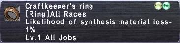 Craftkeeper's Ring