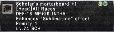 Scholar's Mortarboard +1