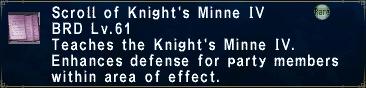 Knight's Minne IV