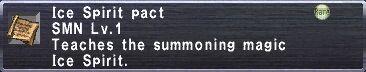 Ice Spirit Pact