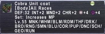 Cobra Unit coat