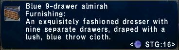 Blue 9-Drawer Almirah