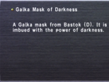 Galka Mask of Darkness