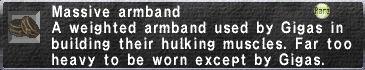 Massive Armband