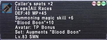 Caller's Spats +2