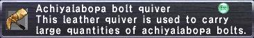 Achiyalabopa Bolt Quiver