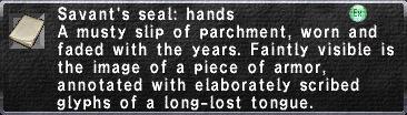 Savant's Seal: Hands
