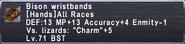 Bison Wristbands