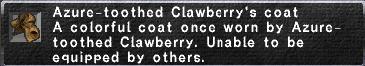Clawberry's Coat