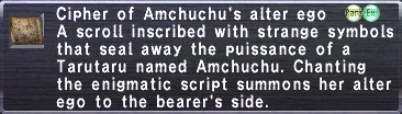 Cipher: Amchuchu