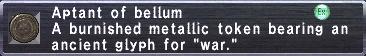 Aptant of Bellum