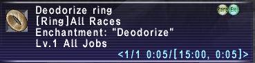 Deodorize Ring