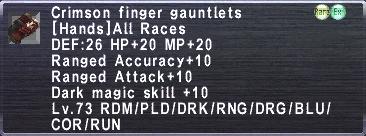 Crimson Finger Gauntlets