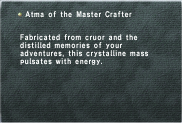 Atma of the Master Crafter