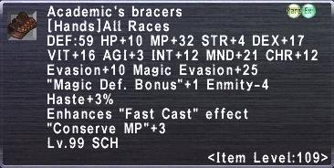 Academic's Bracers