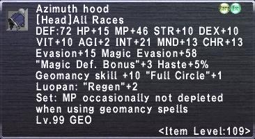 Azimuth Hood