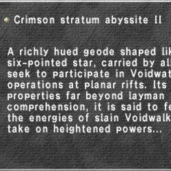 Crimson Stratum Abyssite II