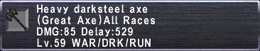 Heavy Darksteel Axe
