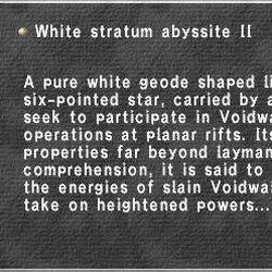 White Stratum Abyssite II