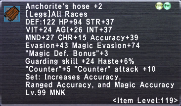 Anchorite's Hose +2