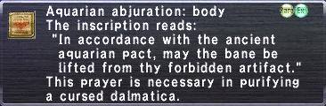 Aquarian Abjuration: Body