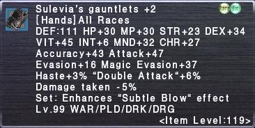 Sulevia's Gauntlets +2