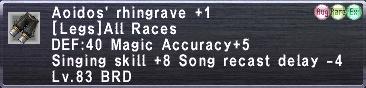 Aoidos' Rhingrave +1