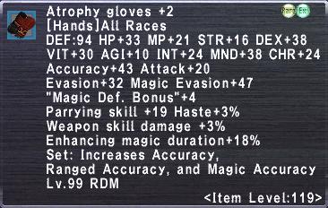 Atrophy Gloves +2