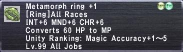 Metamorph Ring +1