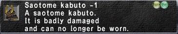 Saotome Kabuto -1