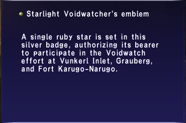 Starlight Voidwatcher's Emblem