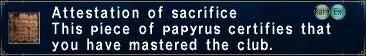 Attestation of Sacrifice