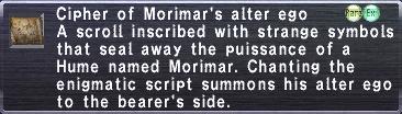 Cipher: Morimar