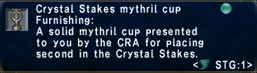 Crystal Stakes Mythril Cup