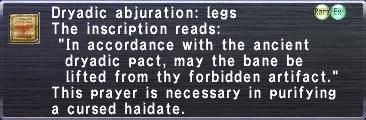 Dryadic Abjuration: Legs